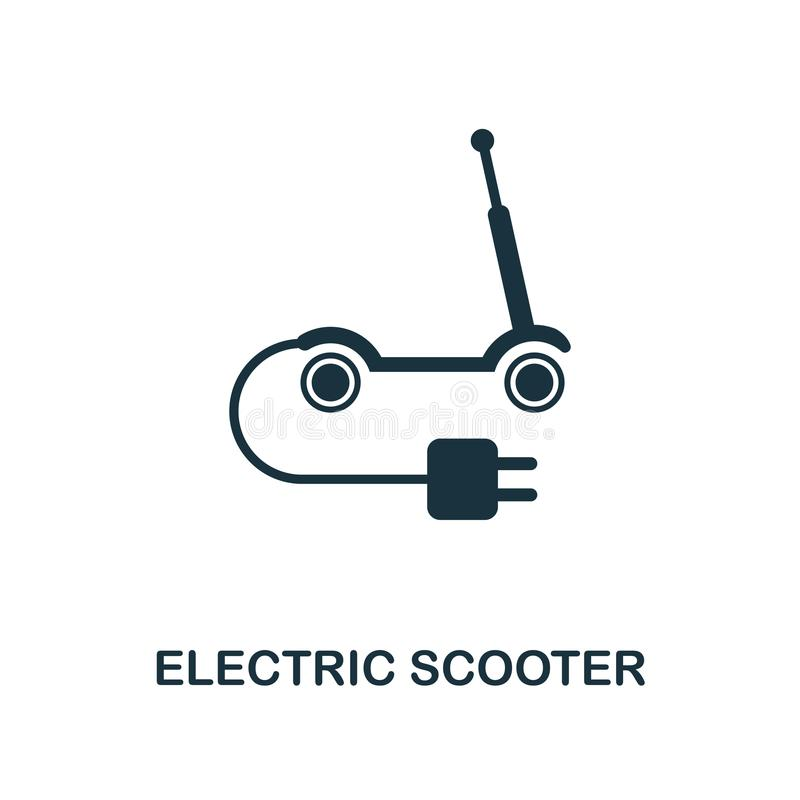 Electric Scooter icon. Monochrome style icon design from smart devices icon collection. UI. Illustration of electric scooter icon. stock illustration