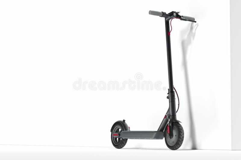 Electric scooter isolated on white background. eco transport. 3d rendering. Electric scooter isolated on white background. eco alternative transport concept. 3d vector illustration
