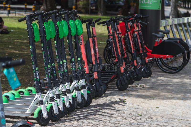 Electric Scooters in Portugal royalty free stock image