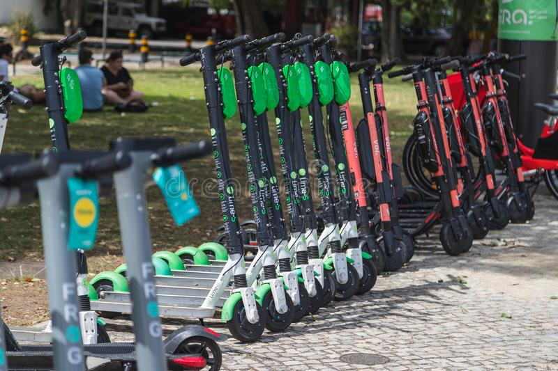 Electric Scooters in Portugal stock photos