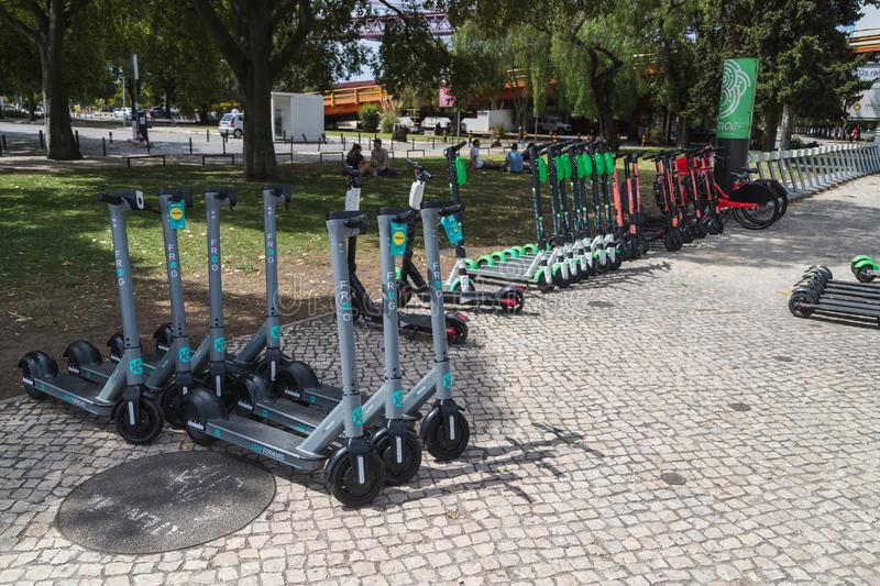 Electric Scooters in Portugal royalty free stock photography