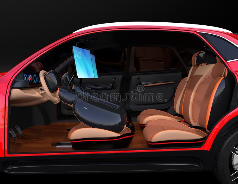 Electric self driving suv car interior design stock illustration download electric self driving suv car interior design stock illustration illustration of internet solutioingenieria Gallery