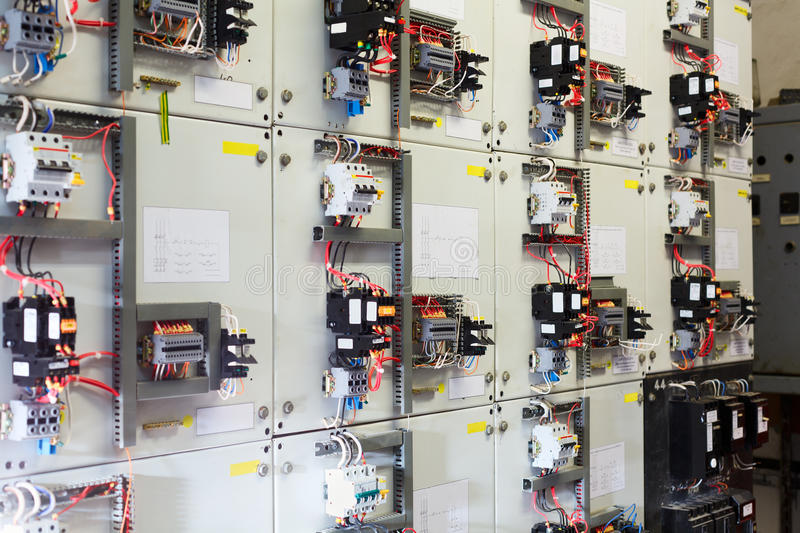 Electric service panel royalty free stock image