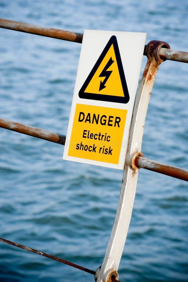 Electric shock stock photos