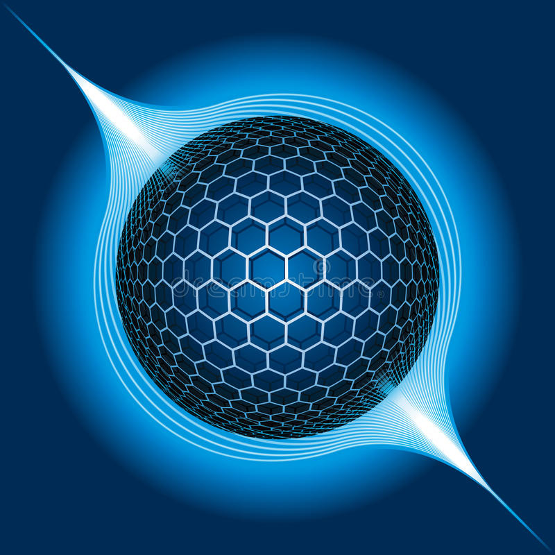 Electric Sphere royalty free illustration