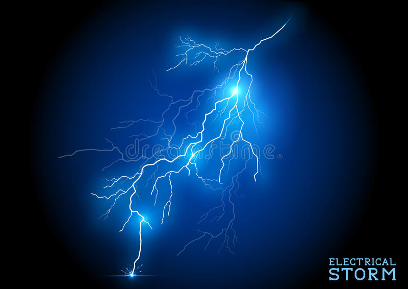 Electric Storm stock illustration