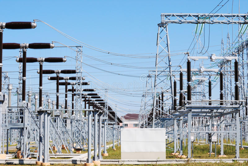 Electric substation stock image