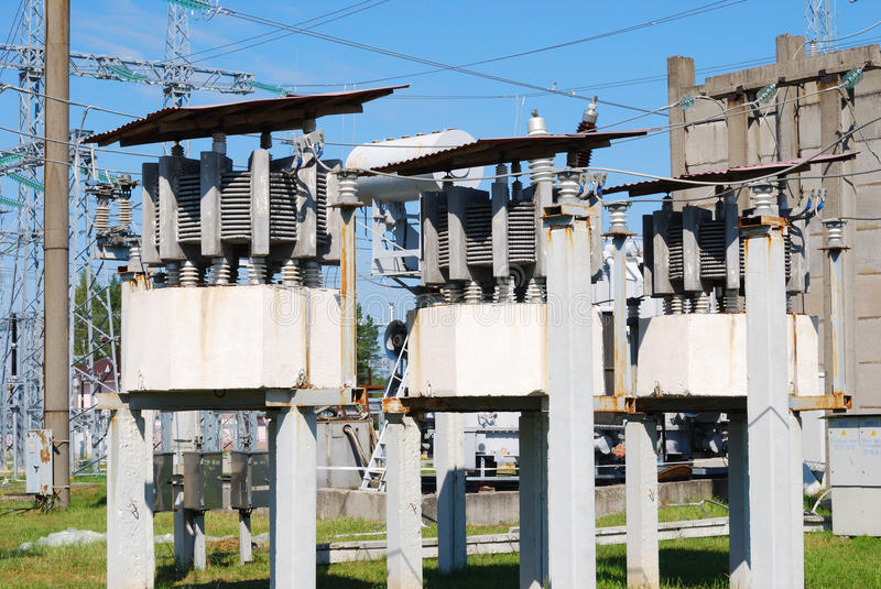 Electric substation royalty free stock image