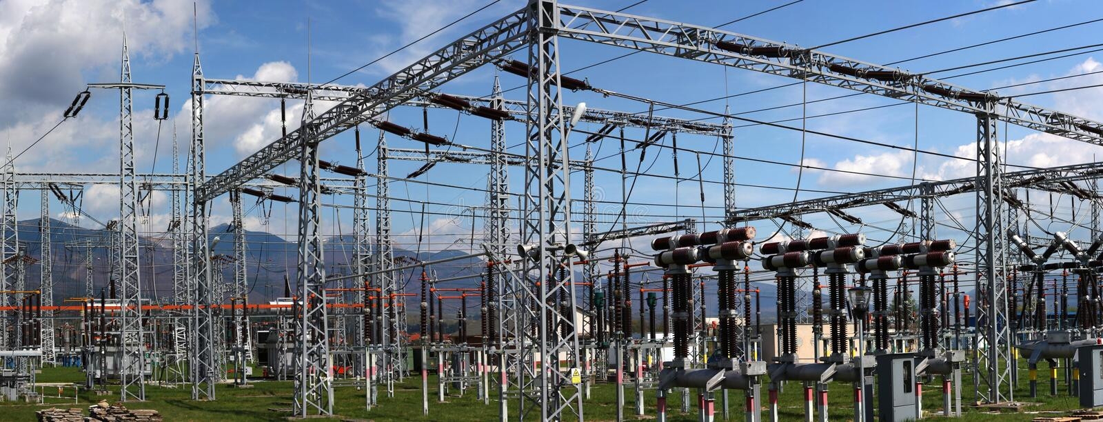electric substation and distribution power stock photos