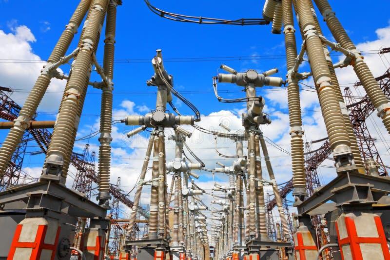 Electric substation royalty free stock photos