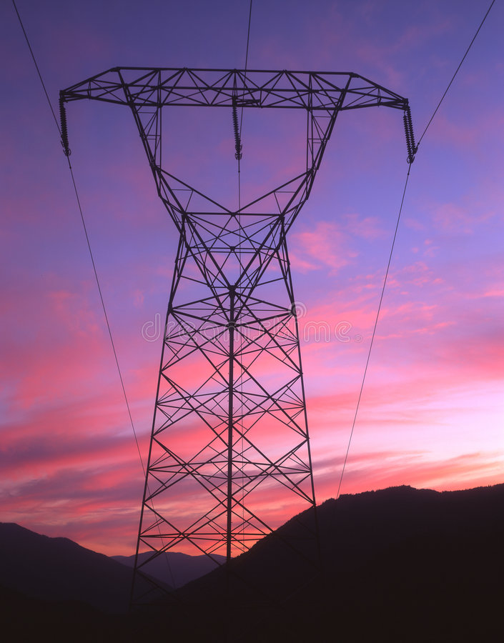 Download Electric Sunset stock photo. Image of america, voltage - 481934