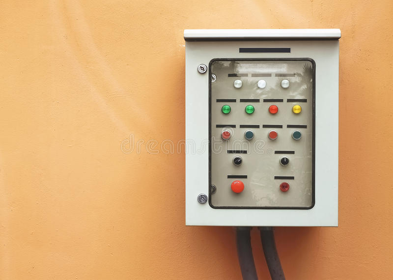 Electric switch control panel royalty free stock images