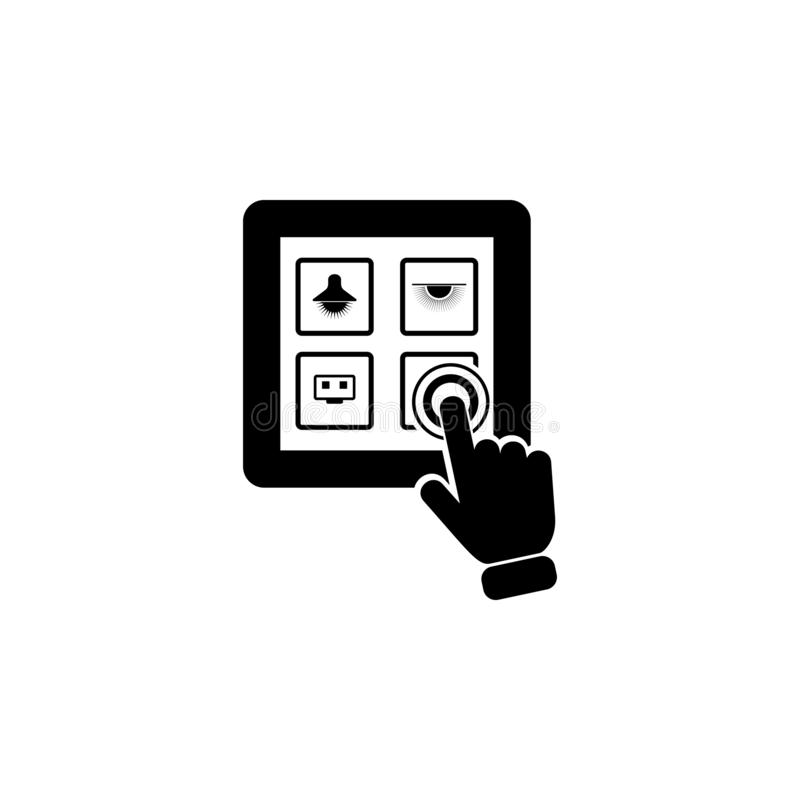 Electric Switch on touch screen icon. Element of touch screen technology icon. Premium quality graphic design icon. Signs and symb. Ols collection icon for vector illustration