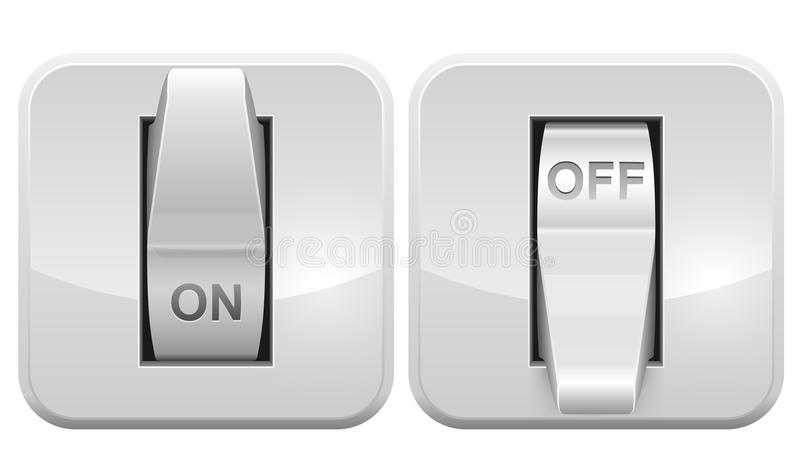 Electric switch web icon. Isolated on white background