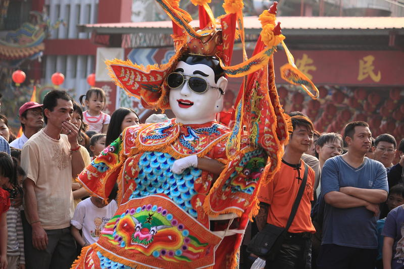 Electric Techno Neon Gods. Dance with music in Taiwan Tainan stock photography