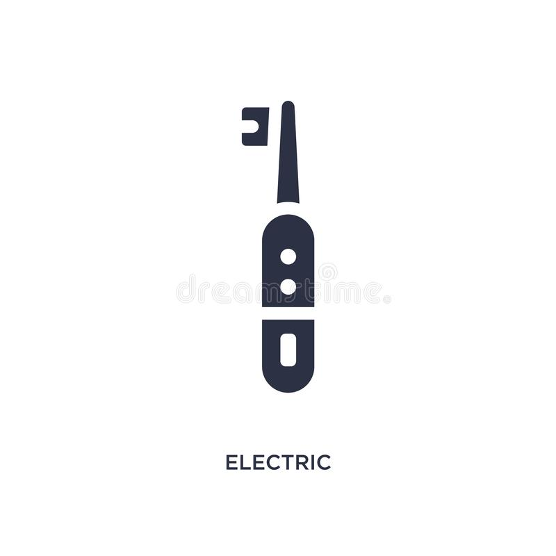 Electric toothbrush icon on white background. Simple element illustration from medical concept. Electric toothbrush icon. Simple element illustration from royalty free illustration
