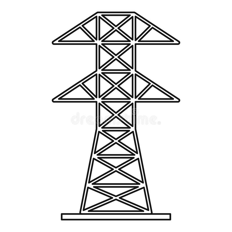 electric tower icon  outline style stock vector