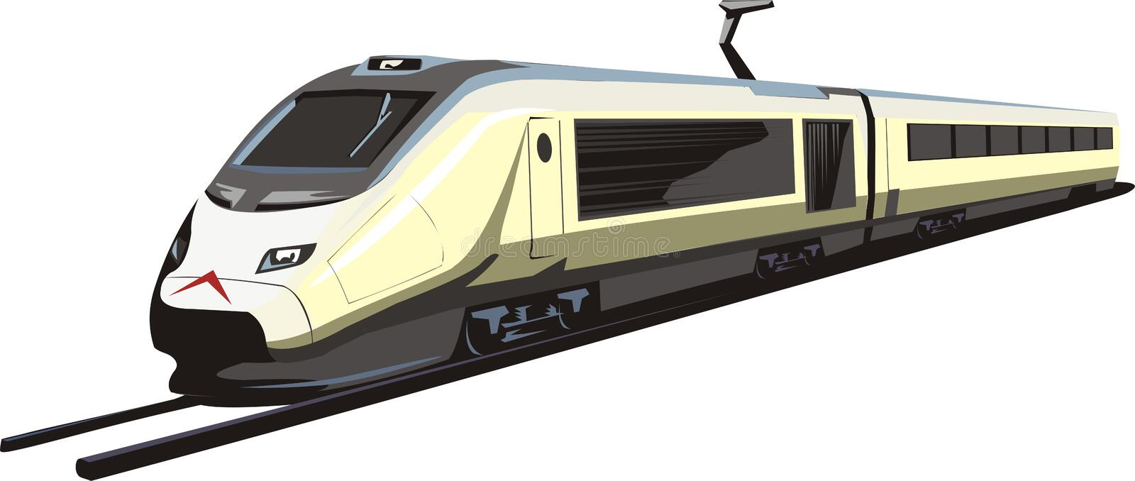 Electric train 3 royalty free illustration