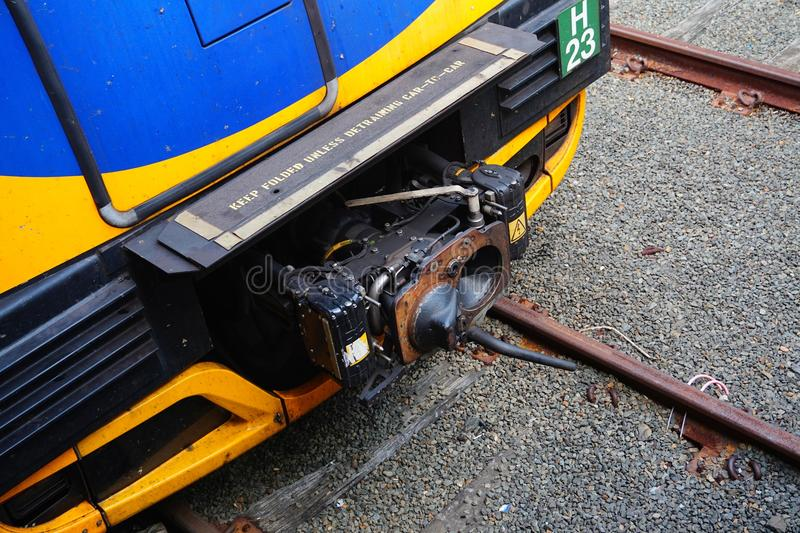 Electric Train Coupler stock image
