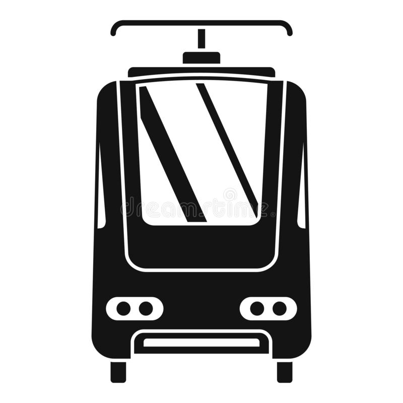 Electric train icon, simple style. Electric train icon. Simple illustration of electric train vector icon for web design isolated on white background stock illustration