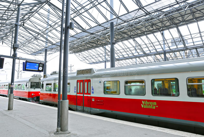 The electric train stopped at the Pavilion Central Station stock photo