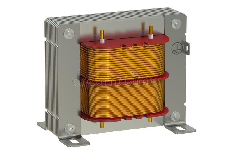 Electric transformer, 3D rendering vector illustration
