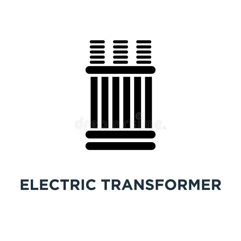 electric transformer icon. electric transformer concept symbol d royalty free illustration