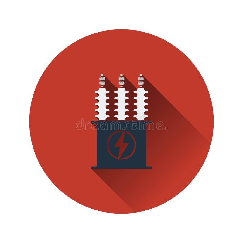 Electric transformer icon vector illustration