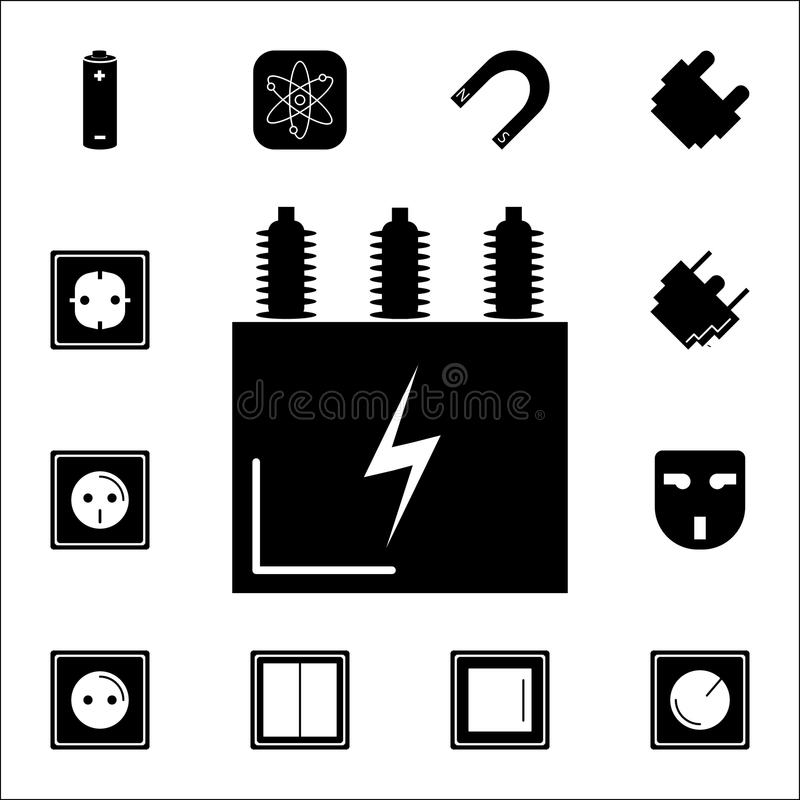Electric Transformer Icon Set Of Energy Icons Premium Quality