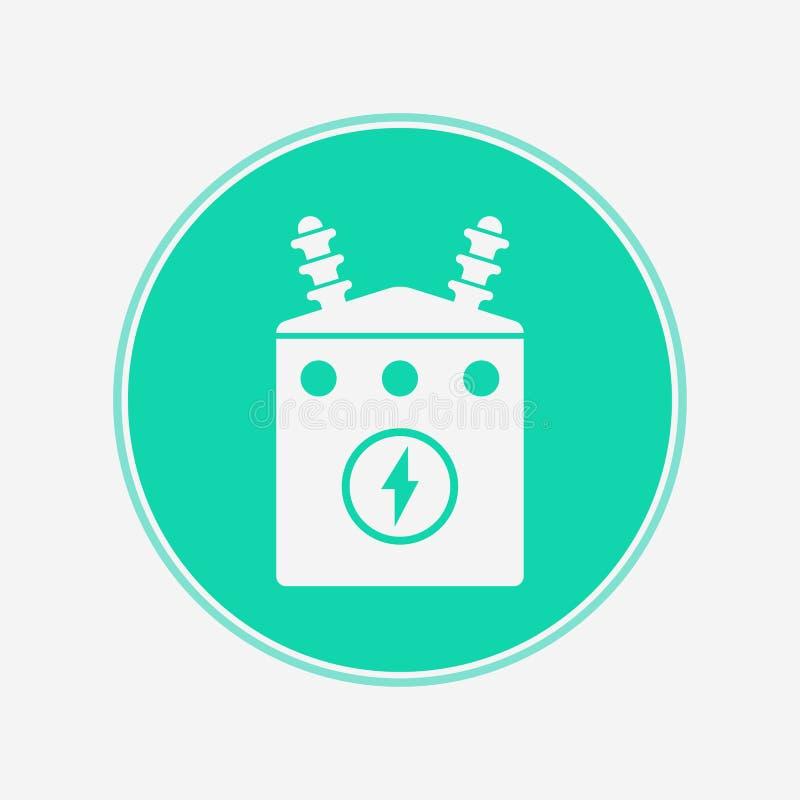 Electric transformer vector icon sign symbol vector illustration