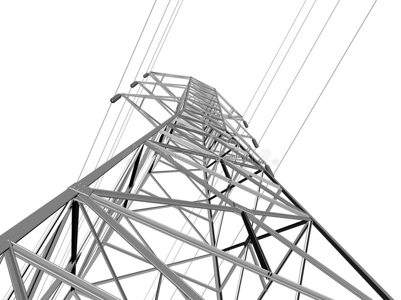 electric transmission line stock illustration  illustration of wire