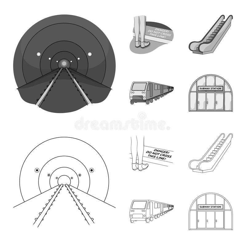 Electric, transport, equipment and other web icon in outline,monochrome style.Public, transportation,machineryicons in royalty free illustration