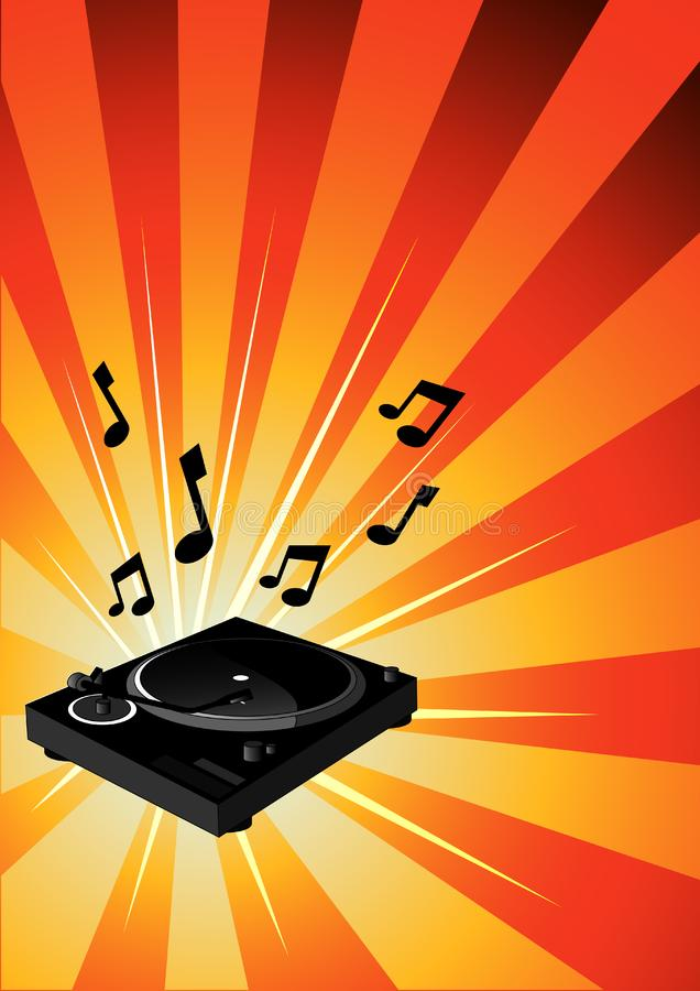 Electric Turntable stock photography