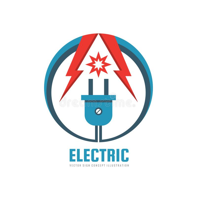 Electric - Vector Logo Template Concept Illustration. Electrical ...