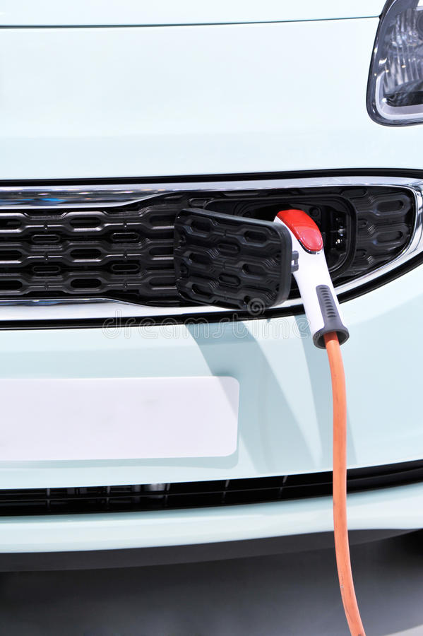 Download Electric vehicle charging stock photo. Image of head - 25252192