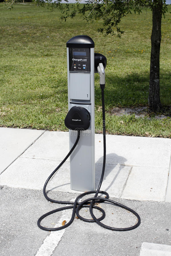 Download Electric Vehicle Charging Station Closeup Editorial Photography - Image: 93883442