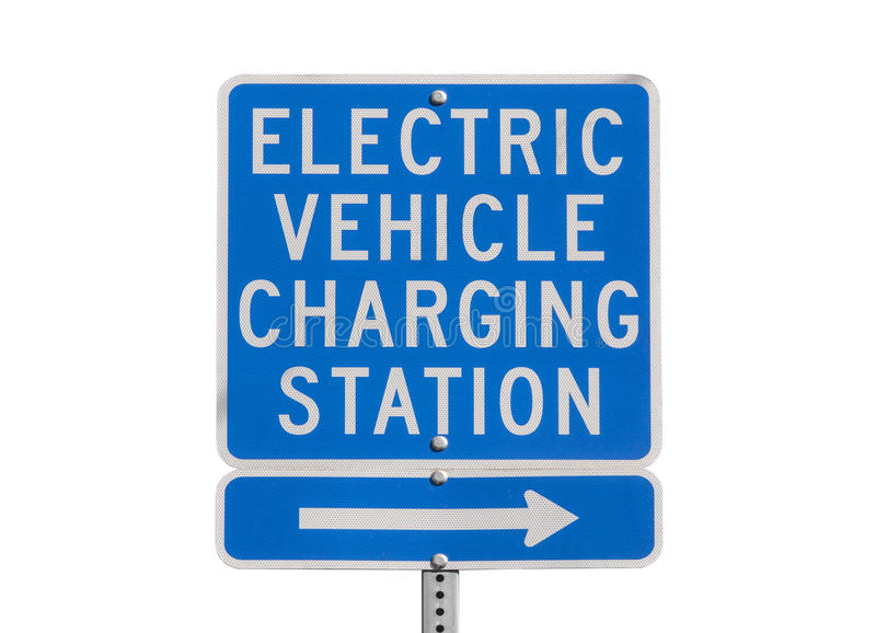 Download Electric Vehicle Charging Station Sign Isolated Stock Photo - Image: 34022142