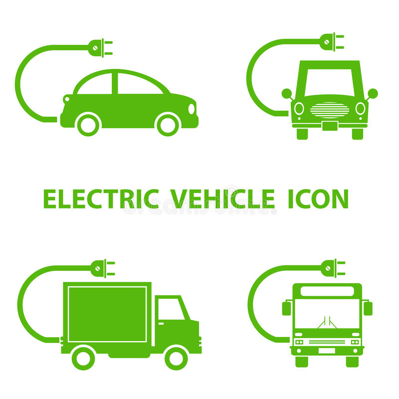 Electric vehicle icon vector illustration