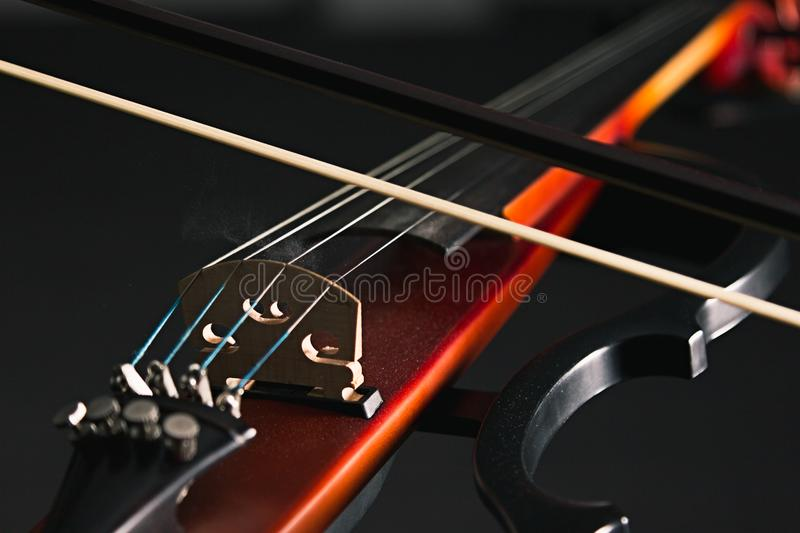 Electric violin stock photos