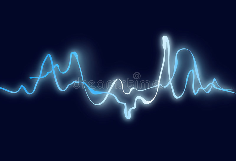 Electric wave. Blue electric wave