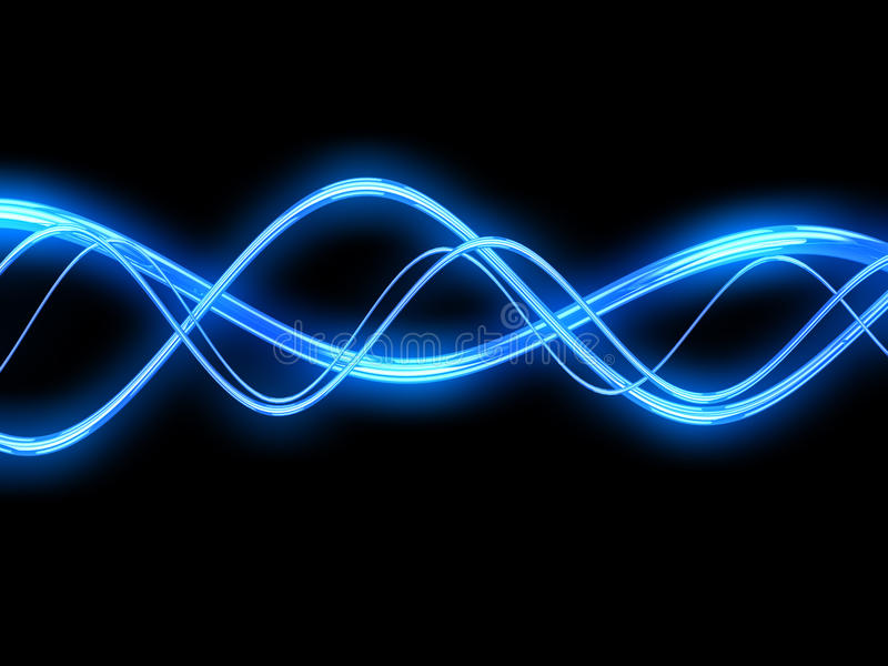Electric waves royalty free illustration