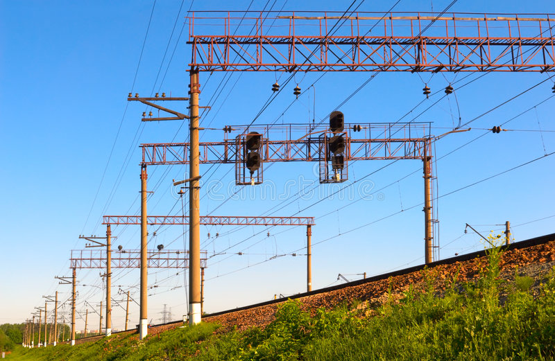 Electric way stock image