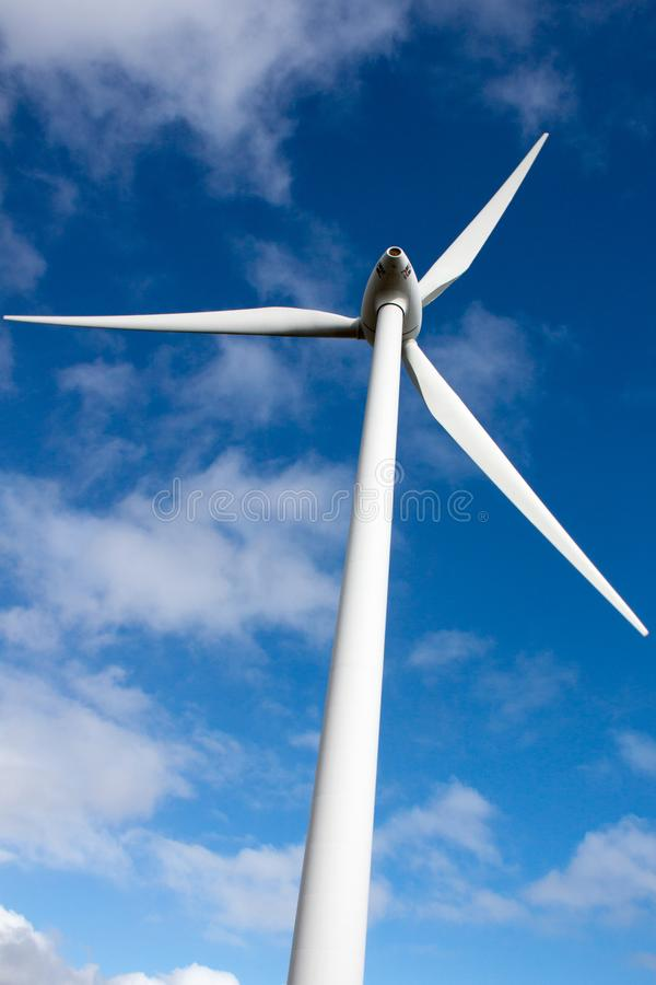 Electric Wind Turbine at Albany, West Australia. Electricity generating wind turbine in Albany area, West Australia. The windmill against the backdrop of the royalty free stock photos