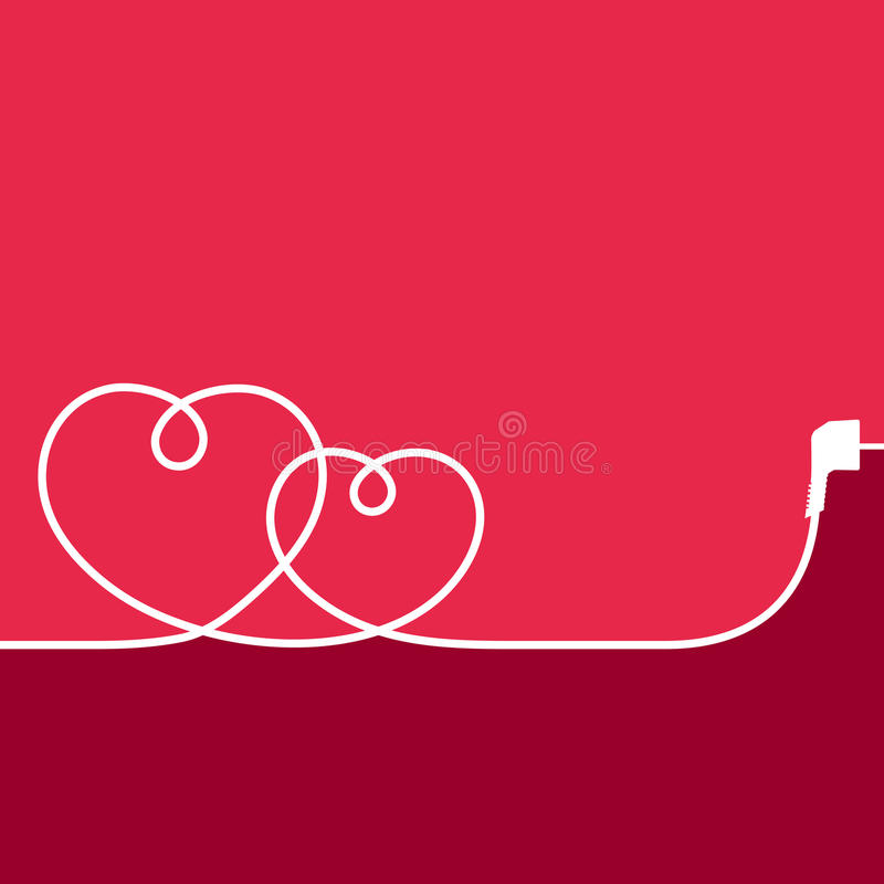 Free Electric Wire In The Shape Of Hearts Stock Photo - 70556970