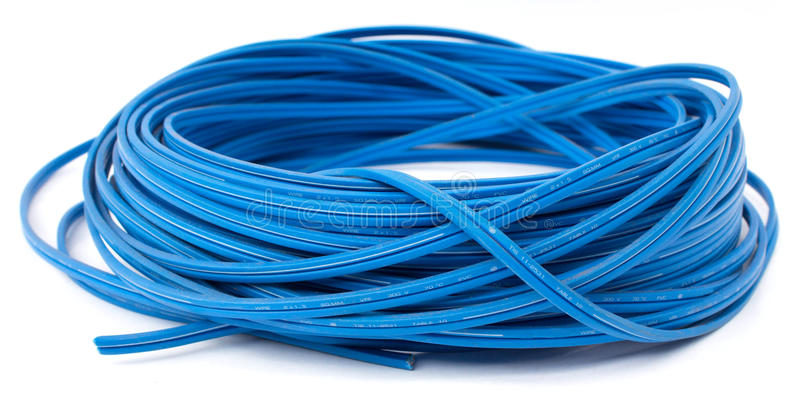 Download Electric wire stock photo. Image of dynamics, blue, power - 33007702