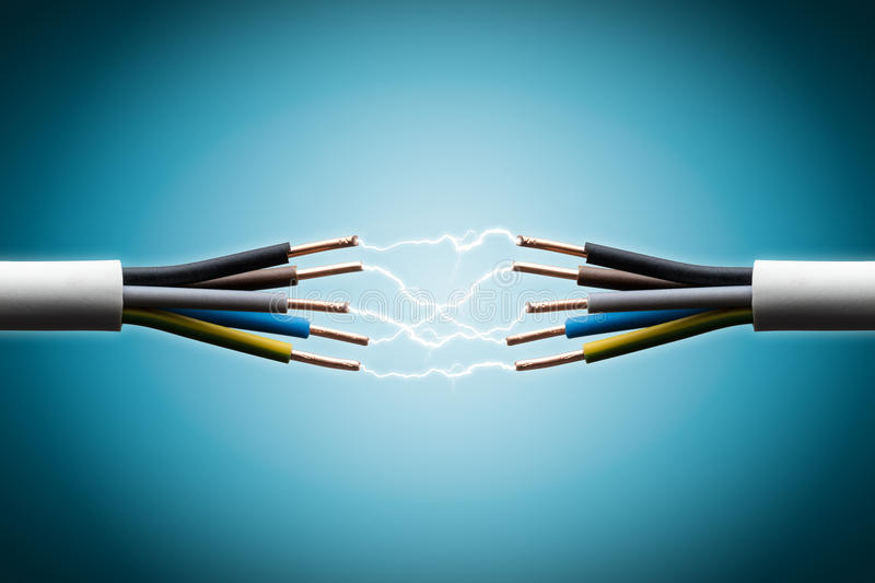 Electric wire royalty free stock image