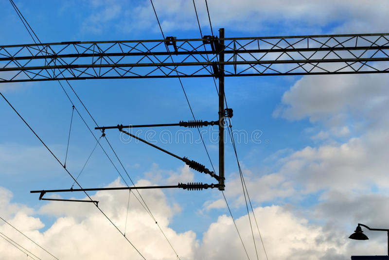 Electric wires. stock photography