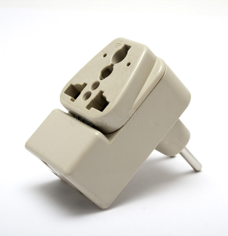Download Electrical adapter stock image. Image of england, grey - 14292499