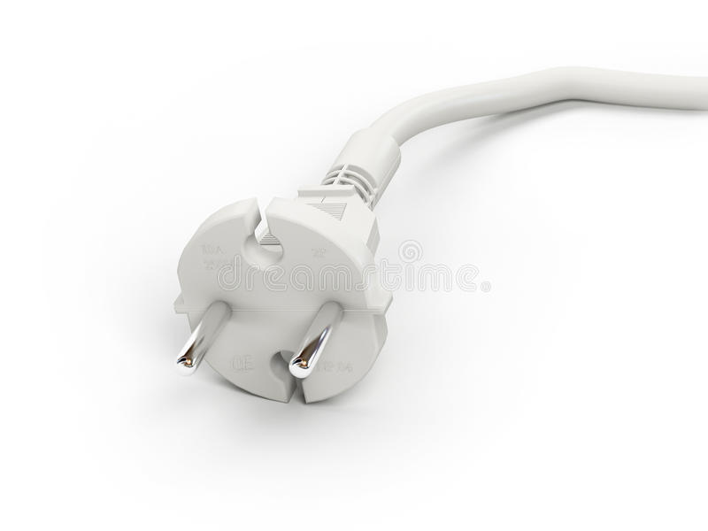 Electrical Adapter White Royalty Free Stock Image