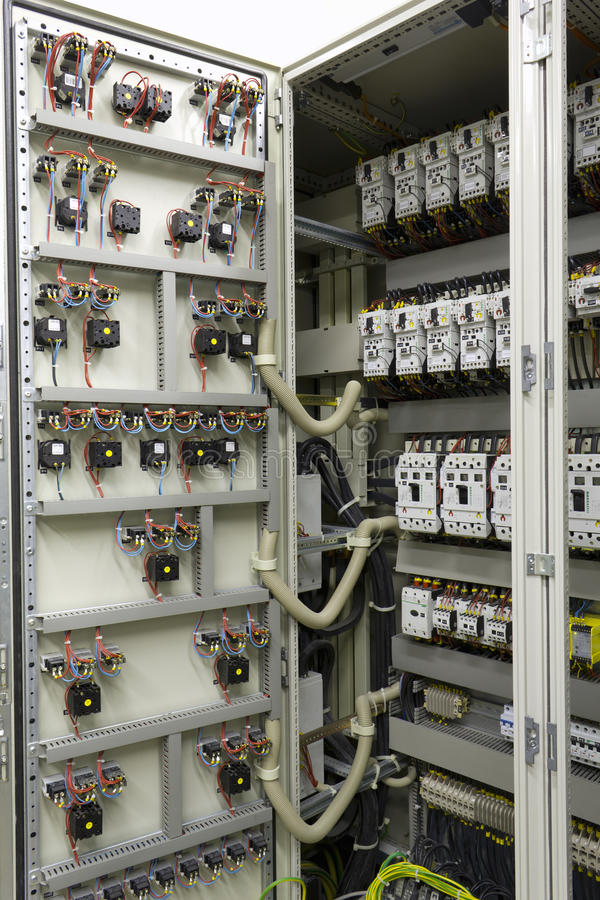Electrical automation and control equipment stock image